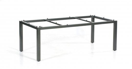Base Tisch Alu/anthrazit + Tischplatte HPL/beton-dunkel