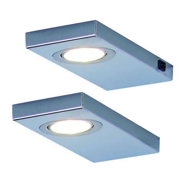 LED Leuchte LEON 2er-Set inkl. Konverter und Masterschalter