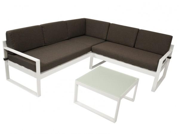 Aluminium Loungeset ARESE, weiß
