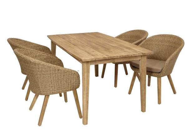 Wohnen Und Garten Outdoor Küche : Garnitur valletta 5 teilig geflecht akazienholz lda homestore
