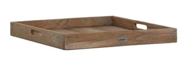 BEST Serviertablett Moretti Teak grey-wash 60x60