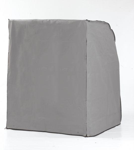 Strandkorb Schutzhülle grau 2-Sitzer - schwere Ausführung