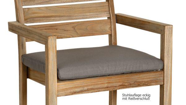BEST Stuhlauflage eckig grau mit Reißverschluß 02041233