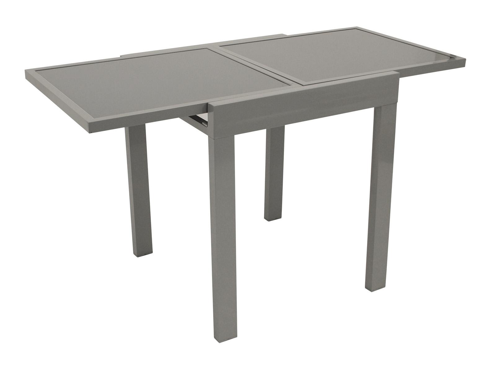 balkonausziehtisch 65 130x65cm aluminium glas lda homestore ihr partner fuer kueche wohnen. Black Bedroom Furniture Sets. Home Design Ideas