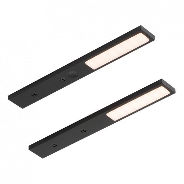 LED Leuchte Pita schwarz mit Touch-Schalter 2er-Set
