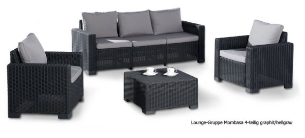 BEST Lounge Mombasa graphit/hellgrau 4-teilig