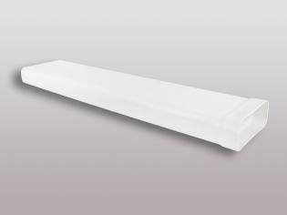 Flachkanalsystem 125 Soft Vierkantrohr 100 cm mit Muffe 150x70mm