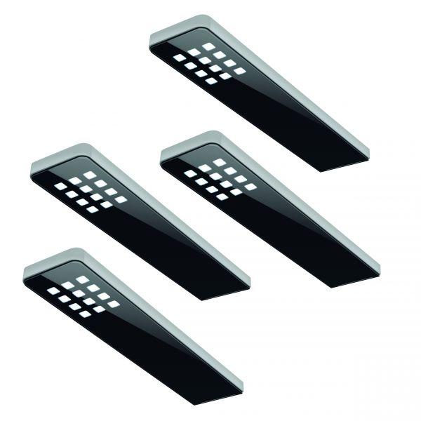 LED Leuchte schwarz KEY DOT - 4er Set