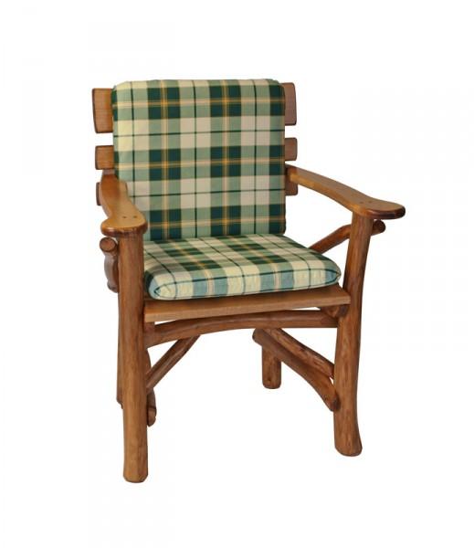 Auflage Sessel, grün/beige-kariert