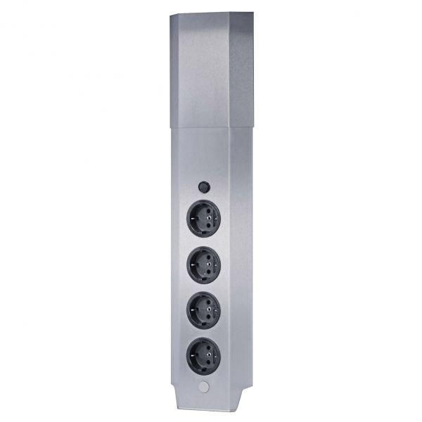 Eck-Steckdosenelement PEDRO 4-fach mit Schalter