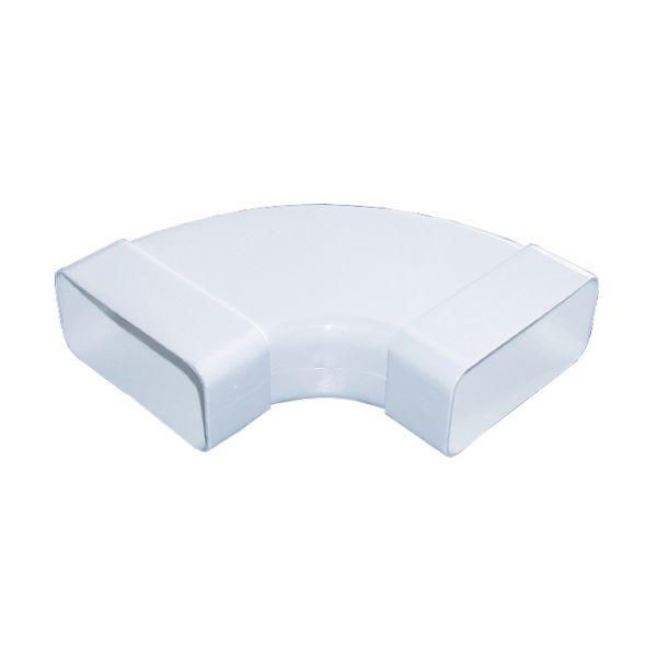 Flachkanalsystem 150 POWER Rohrbogen 90° waagerecht mit Muffen, weiß