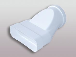 Flachkanalsystem 125 Soft Übergangsstück 150x70 mm