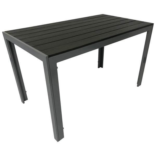 Gartentisch Alu + Polywood 70x125cm