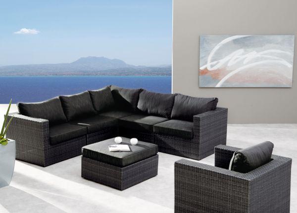 BEST Lounge-Set Aruba 7-teilig anthrazit 98897053