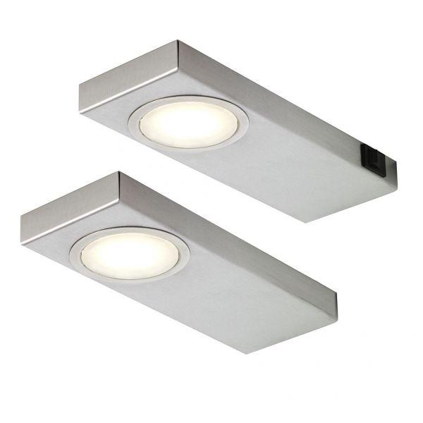 LED Quadra Sun warmweiß 2er-Set inkl. Konverter und Masterschalter