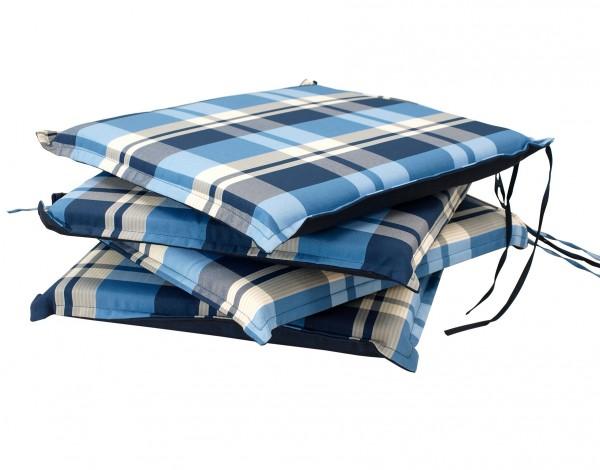 Sitzpolster 41x41cm blau, 4 Stück