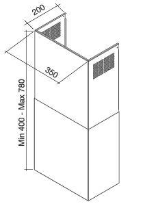 Falmec Schacht Wand extra-breit