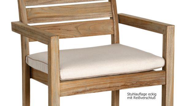 BEST Stuhlauflage eckig natur mit Reißverschluß 02041230