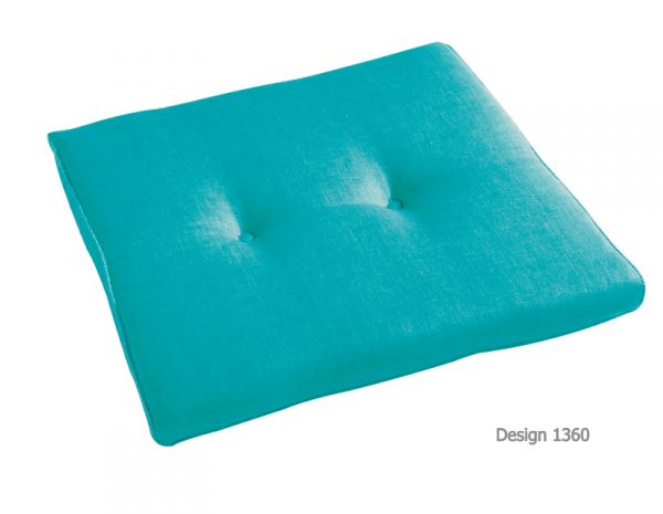 BEST Stuhlauflage konisch aquablau 05251360