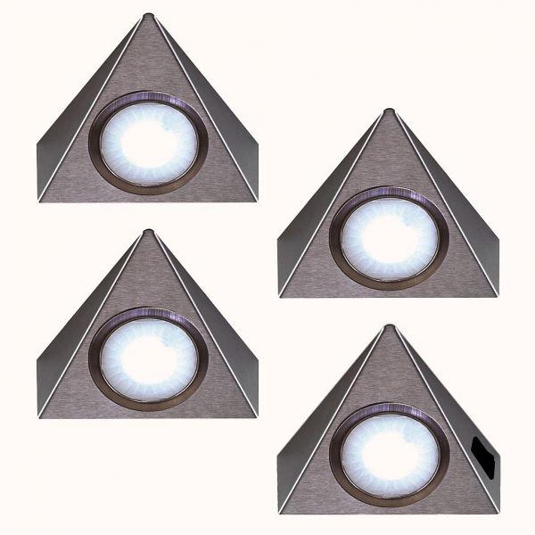 LED Piccolo Sun warmweiß 4er-Set inkl. Konverter und Masterschalter