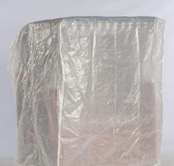 Strandkorb Schutzhülle weiß 2-Sitzer - leichte Ausführung