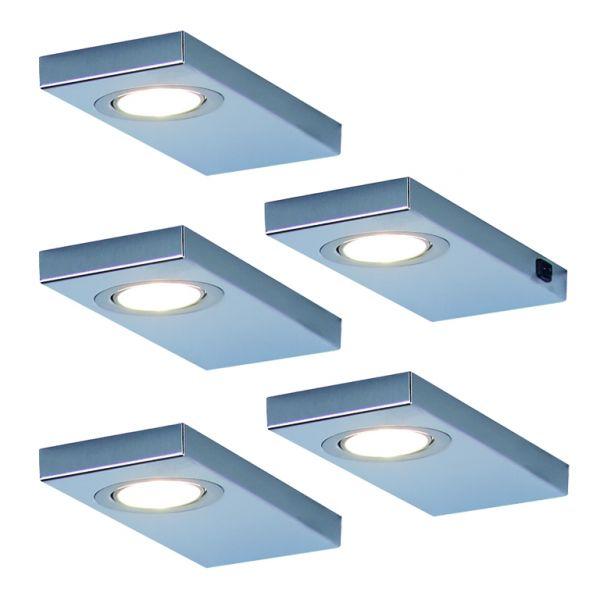 LED Leuchte LEON 5er-Set inkl. Konverter und Masterschalter