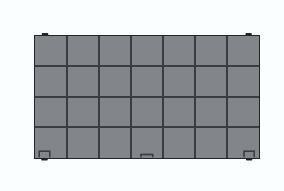 Aktivkohlefilter für Lenoxx Deckenlüfter Cloud 120