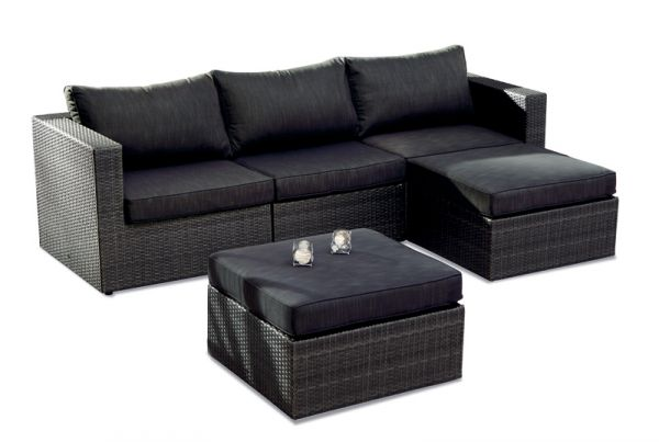 BEST Lounge-Set Aruba 5-teilig anthrazit 98895053