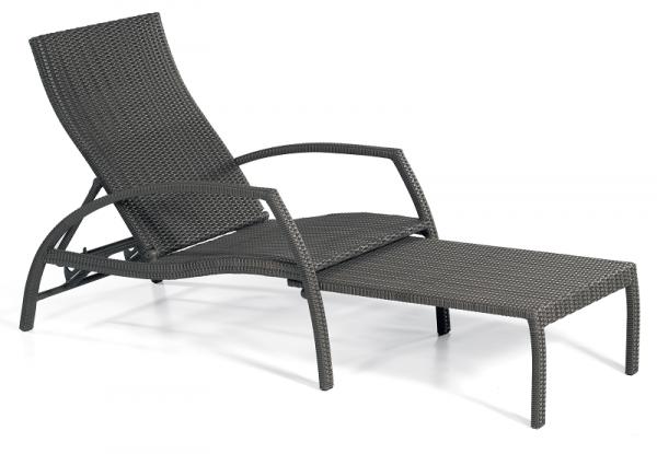 Liege-Sessel Mauritius graphit-schwarz incl. Auflage
