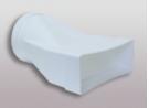 Flachkanalsystem 150 CLASSIC - Übergangsstück flach auf rund, mit Muffen