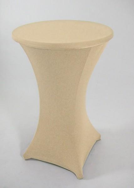 STRETCH-Husse für Stehtisch bis 70cm, creme