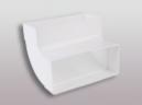 Flachkanalsystem 150 CLASSIC - Rohrbogen senkrecht 90° mit Muffen