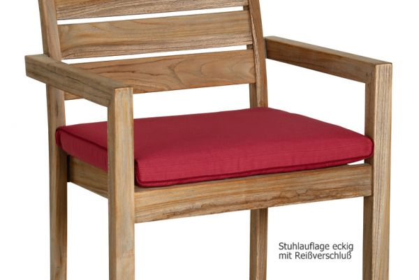 BEST Stuhlauflage eckig rot mit Reißverschluß 02041330