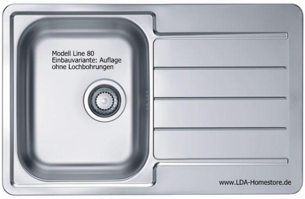 Spüle 80 Cm.Alveus Spüle Line 80 Edelstahl Seidenmatt Auflage 1066750