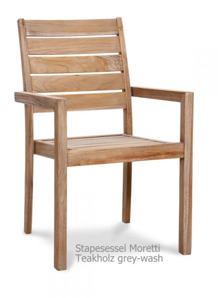 BEST Stapelsessel Moretti Teak grey-wash 52312067