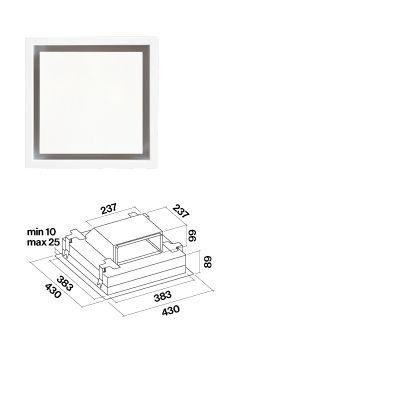 Umluftbox für Deckenlüfter Nuvola, Nube und Stella