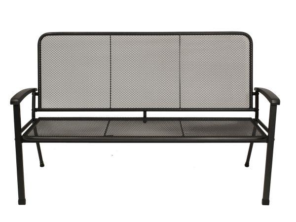 Gartenbank 3-sitzer aus Streckmetall, 150cm